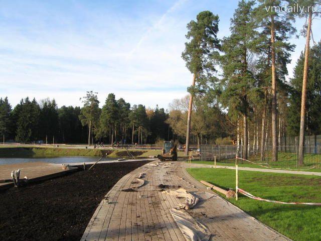 Строительство первой очереди трех парков заканчивается