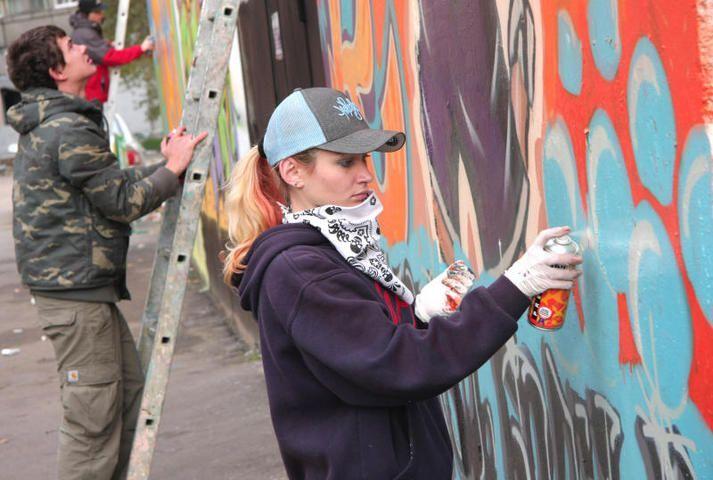 Стены Крекшинского парка Победы разрисовали граффити