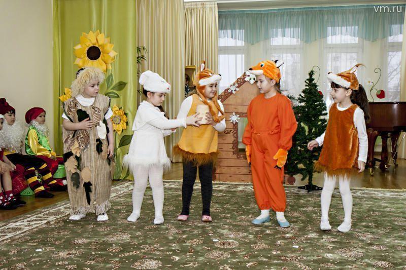 На сцене актового зала детского сада — мюзикл!