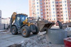 27 февраля 2014 года. 13.40 Поселок Знамя Октября. Сначала нужно убрать строительныймусор, а затем — благоустройство
