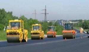 На завершающий этап вышли строительные работы на автодороге от Боровского шоссе до Киевского, соединяющей деревню Рассказовка и Московский.