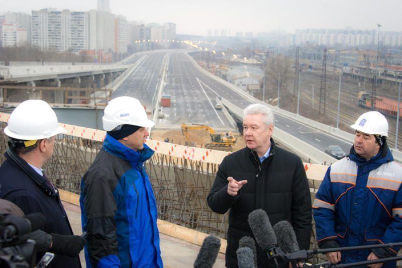 Об открытии трассы от Бусиновской развязки до Фестивальной улицы рассказал Сергей Собянин
