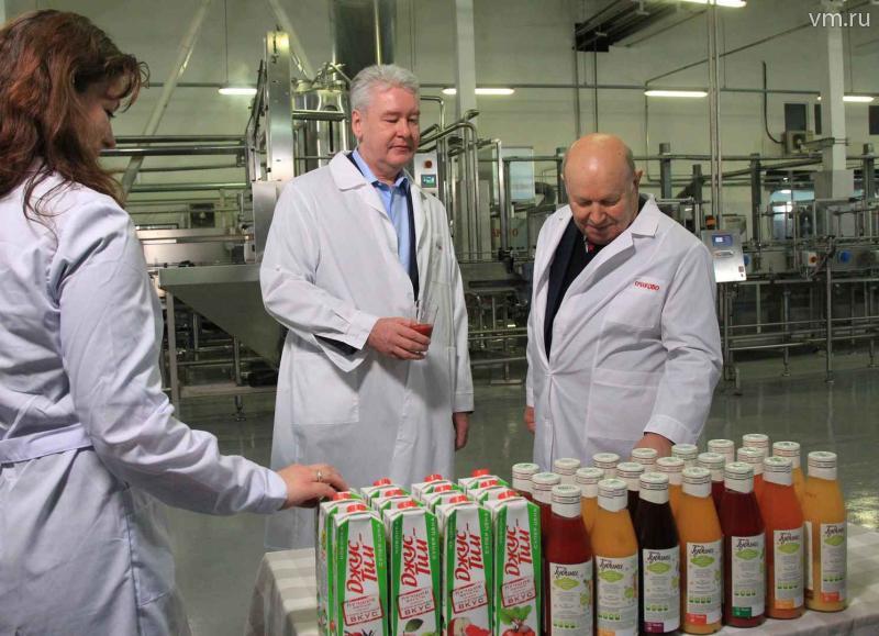 Сергей Собянин открыл на Очаковском заводе современную линию по производству соков