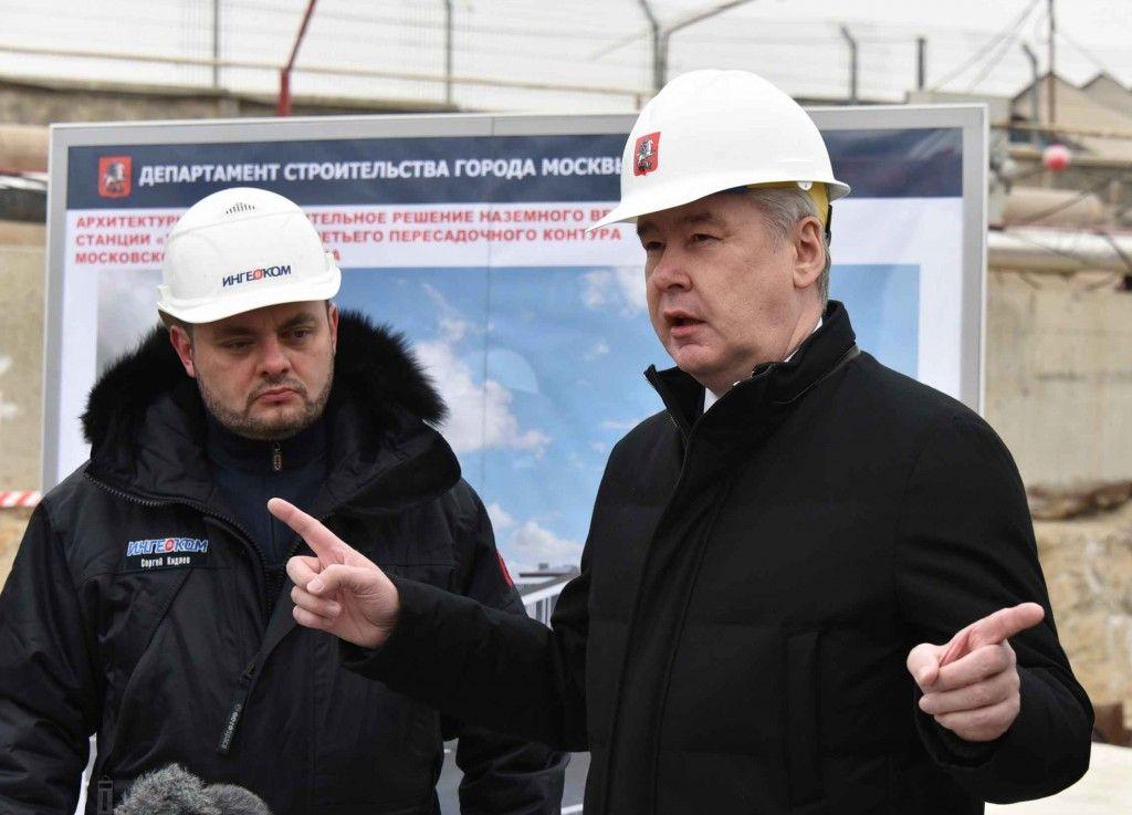 Сергею Собянину доложили, что строительство первого участка Третьего пересадочного контура метро завершено на 50%