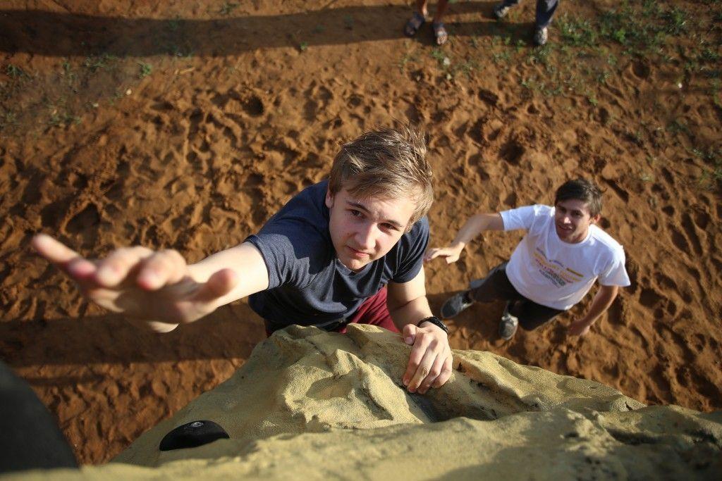 В Щербинке прошли Московские студенческие спортивные игры по скалолазанию