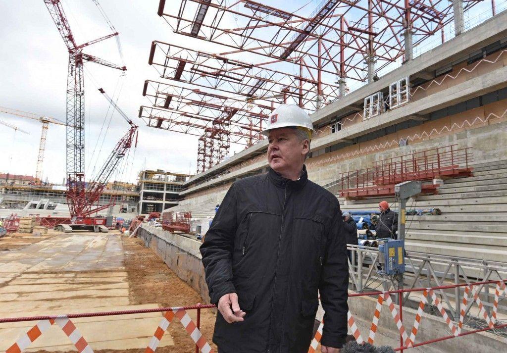 По словам Собянина, стадион ЦСКА достроят в следующем году