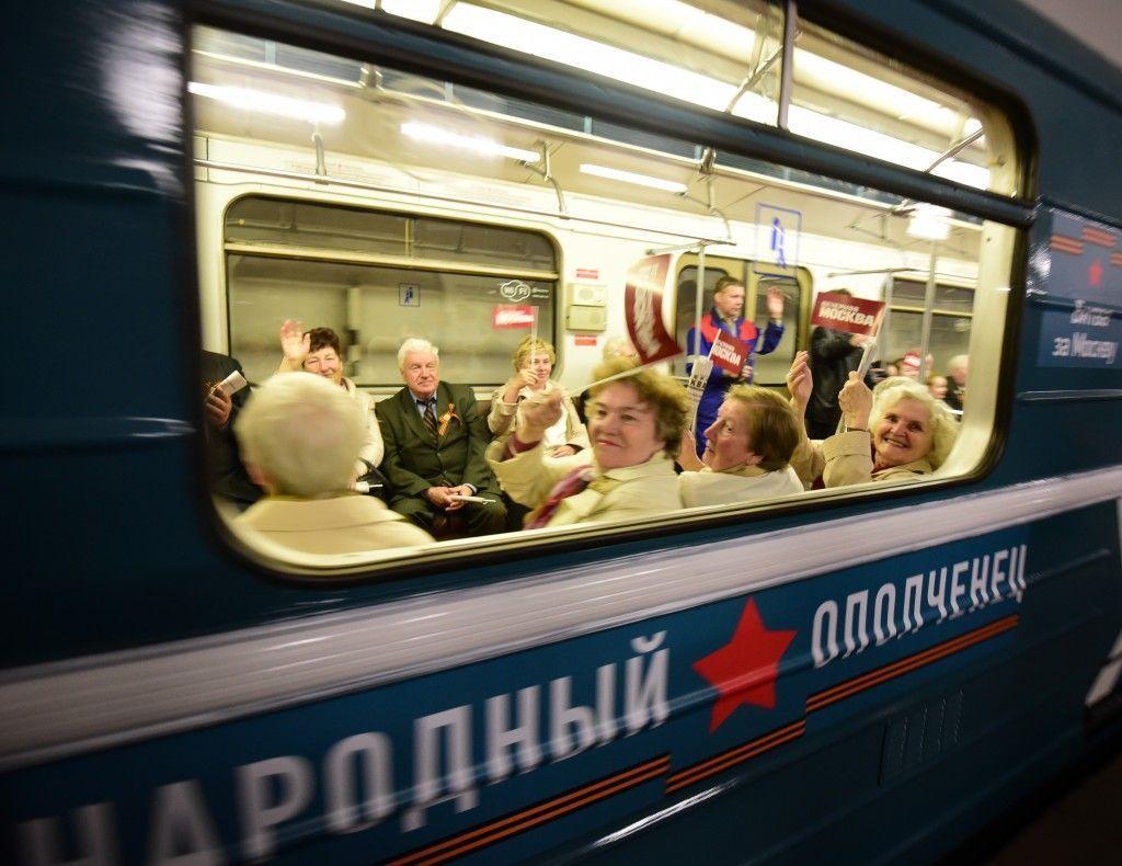 В метро запустили поезд-музей «народный ополченец»