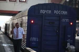 Отправка первого почтового поезда Москва-Владивосток
