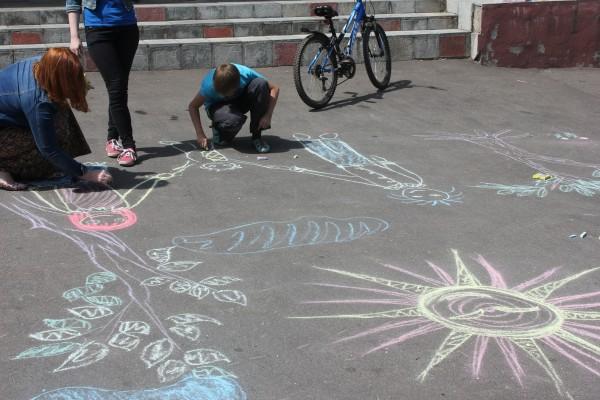 В поселении  Воскресенское прошел конкурс рисунка на асфальте