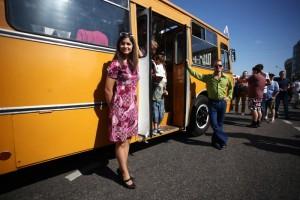 Парад автобусов в честь 90-летия городского транспортного автобусного сообщения