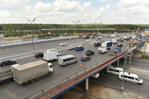 22 Июня 2015 Заместитель Мэр Москвы Марат Хуснуллин осмотрел транспортную развязкуна пересечении  МКАД- Ленинский проспект