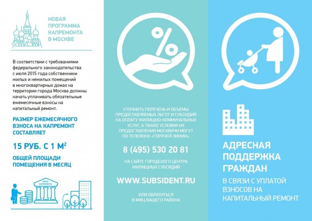 Льготы и субсидии, которые предоставляются москвичам по оплате взносов на капремонт