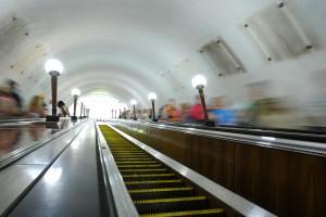 MOSCOW, RUSSIA. JULY 3. 2011. Spots are visible on the walls in Moscow subway where commercial advertisements were taken away. (Photo ITAR-TASS / Valery Sharifulin) Ðîññèÿ. Ìîñêâà. 3 èþëÿ. Íà îäíîé èç ñòàíöèé Ìîñêîâñêîãî ìåòðîïîëèòåíà. Ôîòî ÈÒÀÐ-ÒÀÑÑ/ Âàëåðèé Øàðèôóëèí