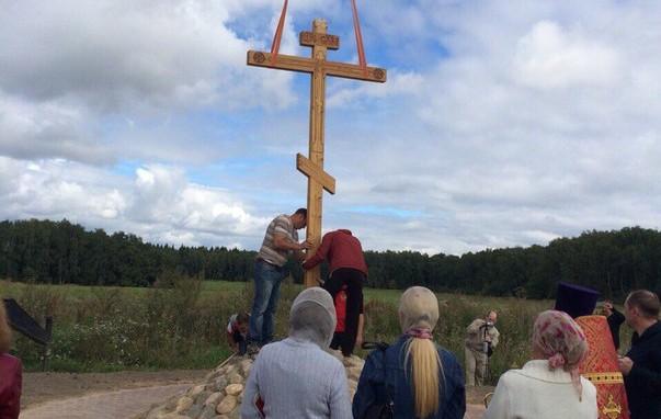 В поселении Щаповское появился Поклонный крест
