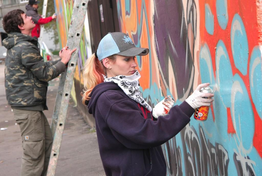 В Кокошкино запущен граффити-проект «Нескучные фасады»