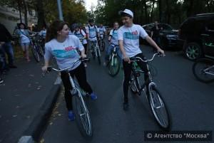 Велопробег «Спорт против ВИЧ» провели студенты столичных медвузов . Фото предоставлено Агентством городских новостей «Москва»