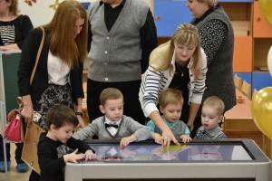 Мэр Москвы Сергей Собянин открывает новое здание детского сада (средней школы № 481) в Нижегородском районе.