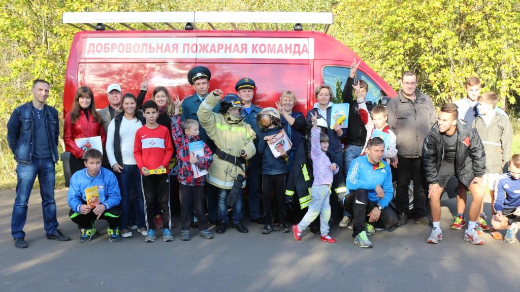 Пожарные посетили детский дом