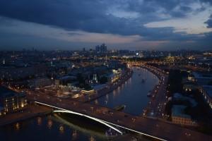 Виды Москвы с высотки на Котельнической набережной.