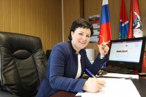 Глава администрации поселения Московский Дания Андрецова.