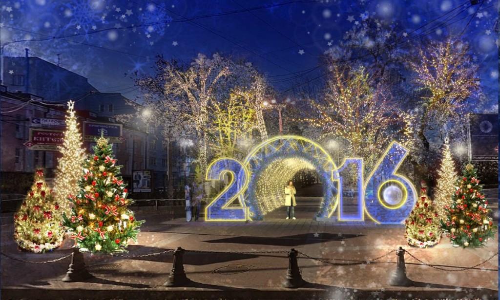 Москва активно готовится к Новому Году и Рождеству