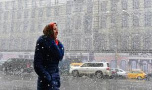 09 октября 2015 Снег в Москве
