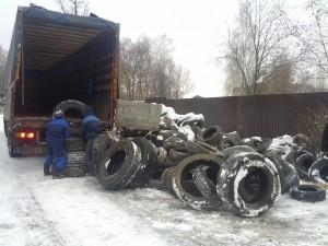 В Троицке для утилизации собрали более 24 тонн покрышек
