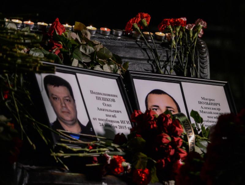В Москве прошла церковная служба по погибшим в Сирии военнослужащим