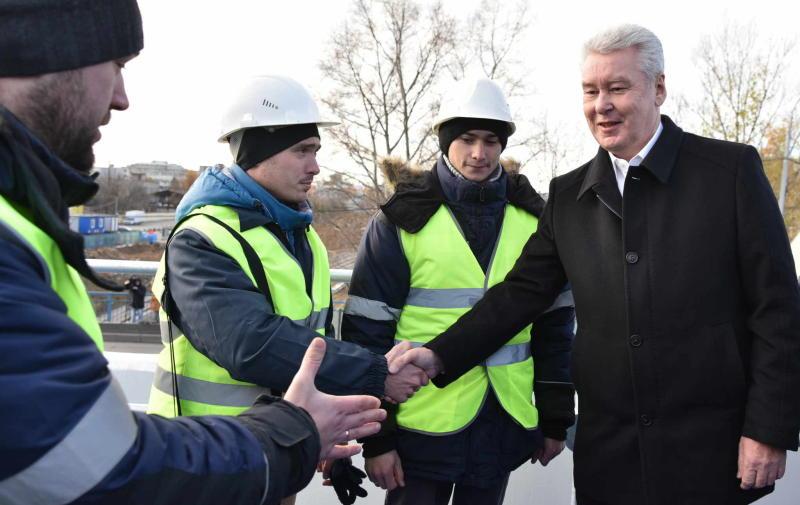 Реконструкция Звенигородского путепровода в рамках запуска движения на МКЖД завершена