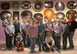 Школьники Воскресенского посетили фабрику «Жостово»