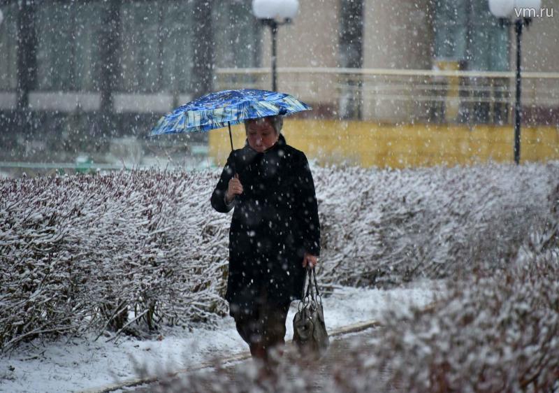 На выходных в Москве пойдет снег