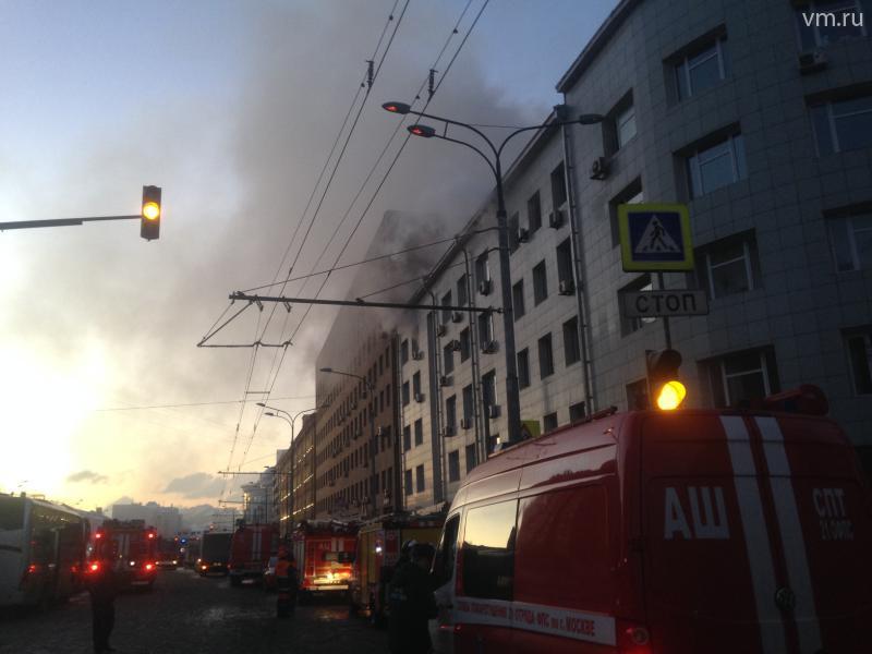 Пожар в культурном центре МВД: назначена проверка