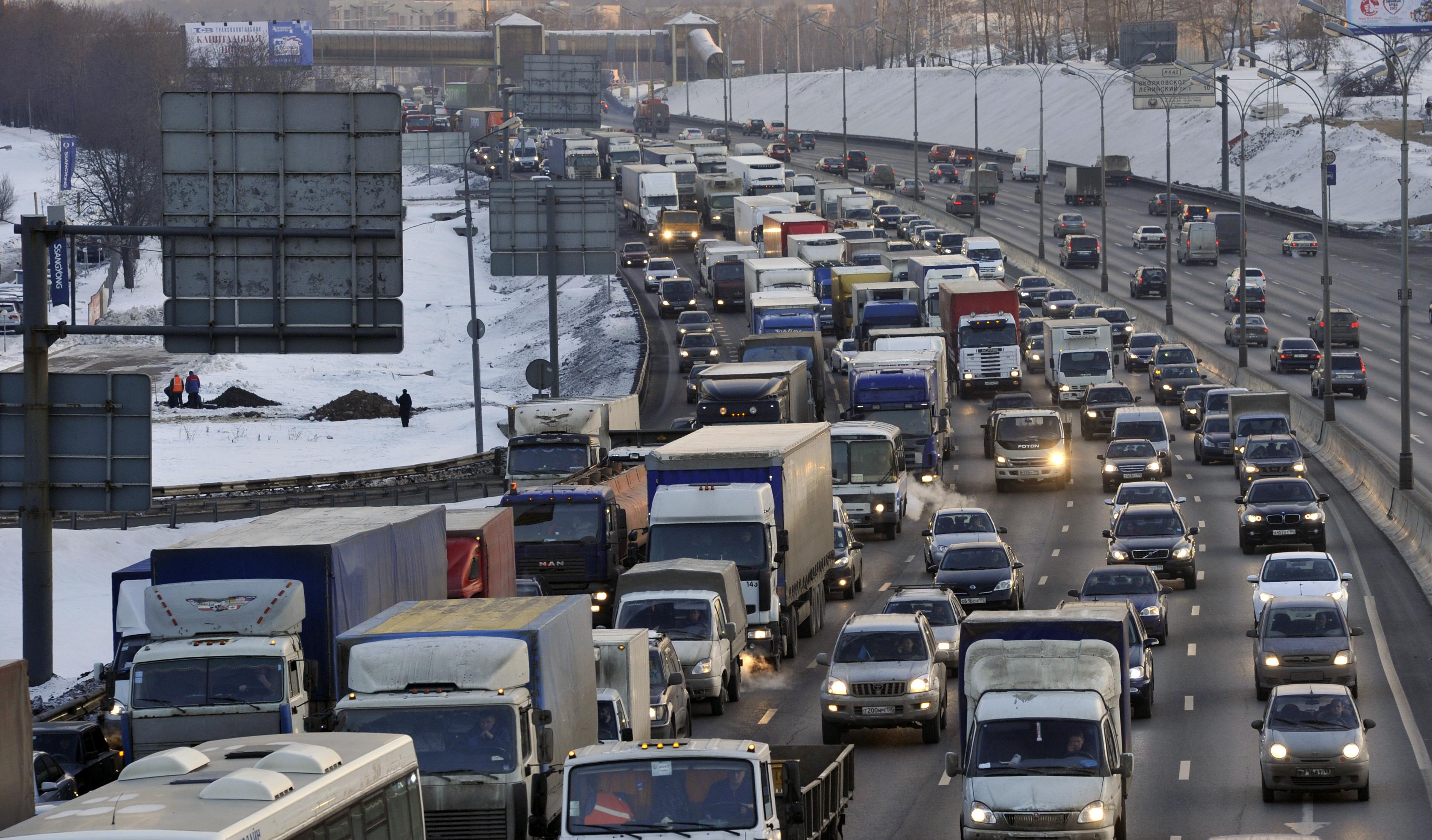 В Москве количество легковых автомобилей увеличилось на 1,3 процента