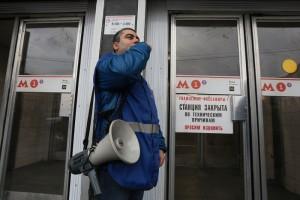 Технологическое окно на Сокольнической линии Московского метрополитена