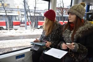 """20 февраля 2015 года, презентация новых трамваев """"Штадлер-Метелица"""". Подобные вагоны побегут и по Новой Москве"""