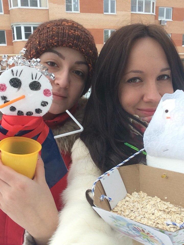 Снеговик-кормилец