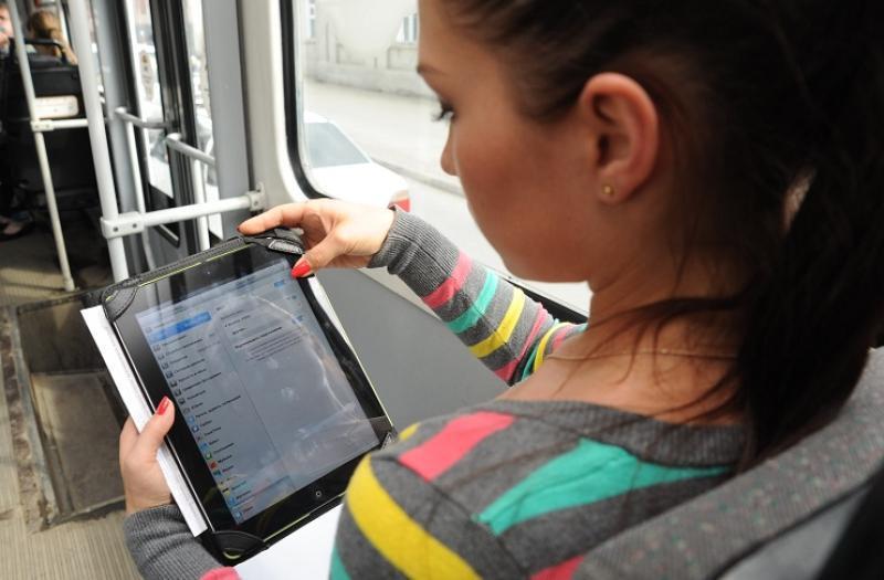 В автобусах начал появляться бесплатный Wi-Fi