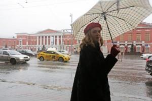 Дата: 17.02.2016, Время: 11:07 Дождь в Москве. Тверская улица