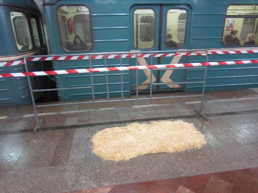 Дождь подтопил станцию метро «Печатники»