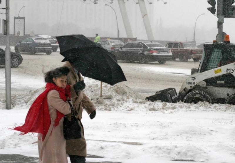 В столице в понедельник пойдет снег с дождем