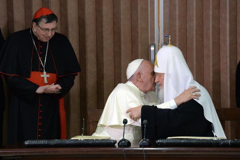 Патриарх Кирилл встретился с Папой Римским в Гаване
