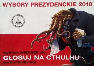 """Польский предвыборный сатирический постер """"Голосуйте за Ктулху"""". Фотоархив Wikipedia."""