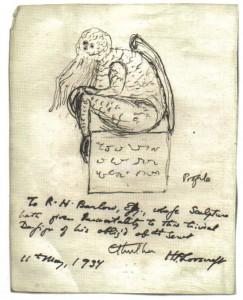 Эскиз Ктулху, нарисованный Говардом Лавкрафтом. Фотоархив Wikipedia