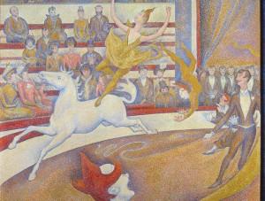 Жорж Сёра. Цирк. Фрагмент. 1891. Фото: Wikipedia