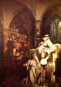 Картина Джозефа Райта «Алхимик, открывающий фосфор» (1771 год), предположительно описывающая открытие фосфора Хеннигом Брандом. Фотоархив Wikipedia