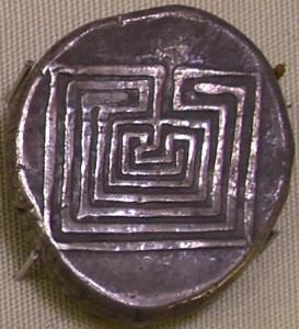 Кносская серебряная монета. Фотоархив Wikipedia