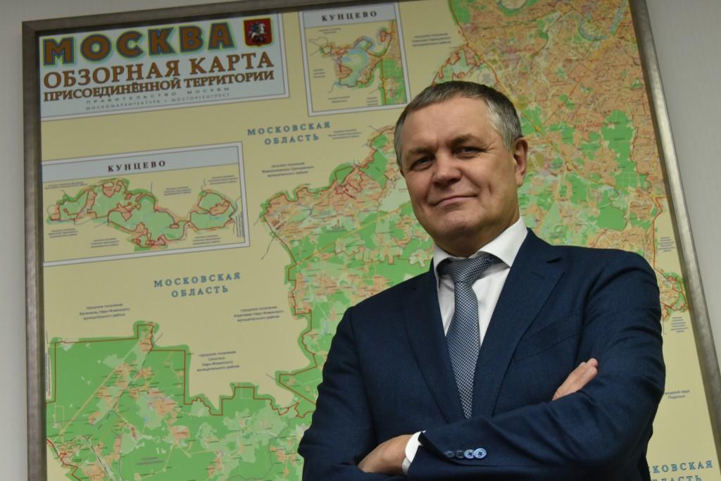 Владимир Жидкин, руководитель Департамента развития новых территорий города Москвы. Фото: Владимир Новиков
