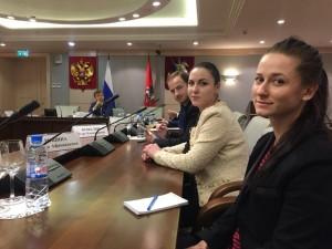 24 марта 2016 года. Юлия Еремина в Мосгордуме. Фото: социальные сети