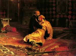 """""""Иван Грозный и сын его Иван 16 ноября 1581 года"""" (1883-1885), Илья Репин. Фотоархив Wikipedia"""