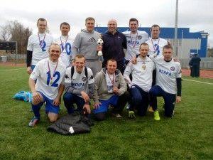 Команда московских спасателей победила в турнире по футболу. Фото: Пресс-служба МЧС по ТИНАО